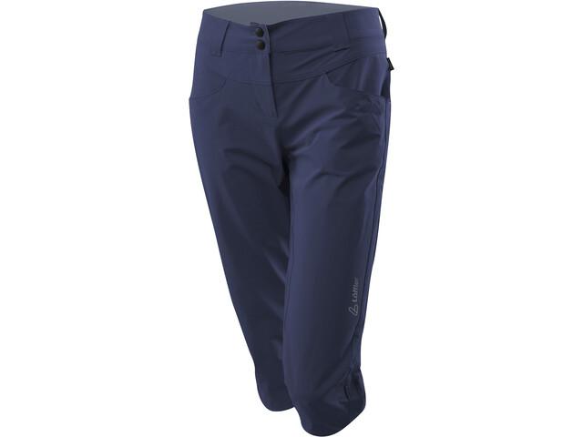 Löffler Comfort Stretch Light Pantalon de trekking Jambes 3/4 Femme, graphite
